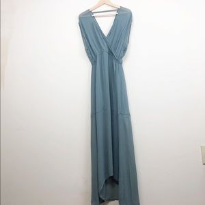 Chaser • Blue/Green Maxi Dress